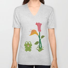 What does the frog see Unisex V-Neck