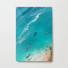 Beach from above Metal Print