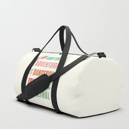 Paulo Coelho quote, if you think adventure is dangerous, try routine, it's lethal, wanderlust quotes Duffle Bag