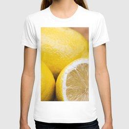 Fresh lemons on wooden tray T-shirt