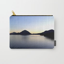 Salish Sea Sunset - Canada - With Text Carry-All Pouch