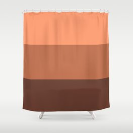 Peach Gradient Pattern Shower Curtain