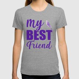 My Best Friend Is A Budgie pu T-shirt