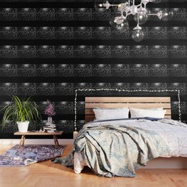 ANIMAL PRINT CHEETAH LEOPARD BLACK WHITE AND SILVERY GRAY Wallpaper