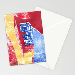 Abstract Building Red Stationery Cards
