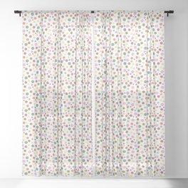 Terrazzo Mosaic (Spots) Sheer Curtain
