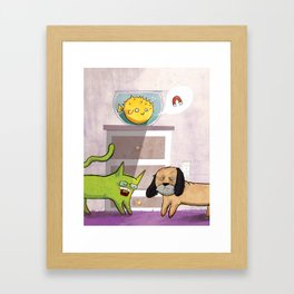 Yo, What About a Magnet? Framed Art Print