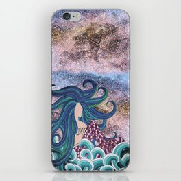 Midnight Blue Mermaid iPhone Skin