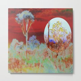 The Planet of the Yellow Flowers 10 Metal Print