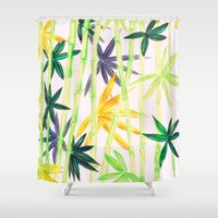 bamboo Shower Curtains featuring Bamboo by Federico Faggion
