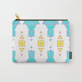 Primitive Cute Geometric Seamless Pattern Carry-All Pouch