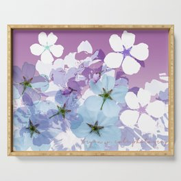 Almond Blossoms Violet 2 Serving Tray