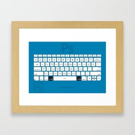 Photoshop Keyboard Shortcuts Blue Cmd Framed Art Print