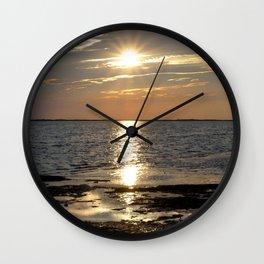 Watercolor Sunset, Janes Island 07, Maryland Wall Clock
