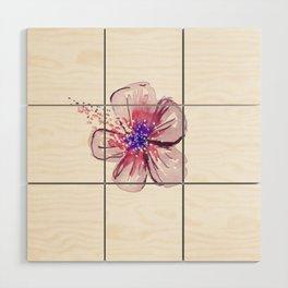 Little Lilac Flower Wood Wall Art