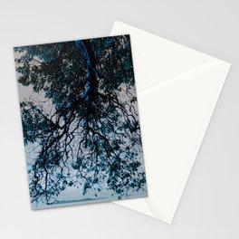 Blue Overhang Stationery Cards