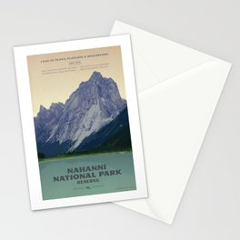 Nahanni National Park Poster Stationery Cards