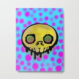 dirty skull Metal Print