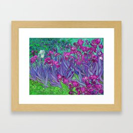 Vincent Van Gogh Irises Painting Violet Fuchsia Palette Framed Art Print