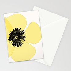 Yellow Poppy Flower Stationery Cards