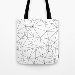 Black and White Geometric Minimalist Pattern Tote Bag