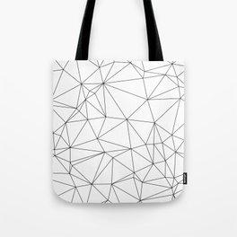 Black and White Geometric Minimalist Pattern Tote Bag