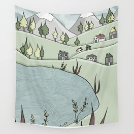 Lakeside Village Wall Tapestry