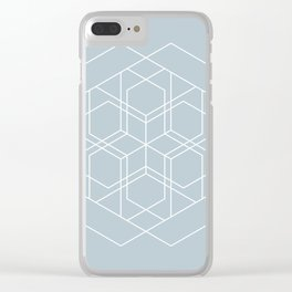 Duck Egg Blue Geometry 1 Clear iPhone Case