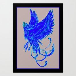 Bird of Fantasy Phoenix Art Print
