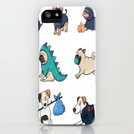 Puppy family iPhone Case