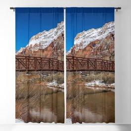 Virgin_River Foot_Bridge - Zion Court Blackout Curtain