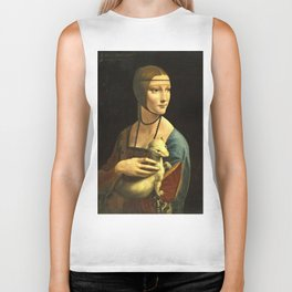 Leonardo Da Vinci - The lady with an ermine Biker Tank