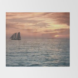 Key West Sunset Throw Blanket
