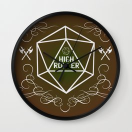 Dungeons and Dragons Tabletop Gaming RPG High Roller Funny Dice Wall Clock