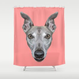 Whippet // Pink (Vespa) Shower Curtain