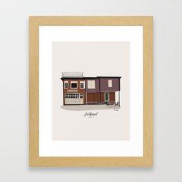 Fretboard Coffee Framed Art Print