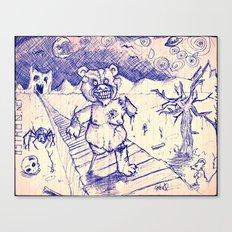 ZombieTeddy Canvas Print