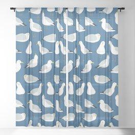 Cute Seagulls Sheer Curtain