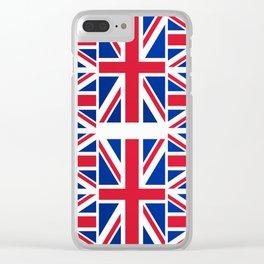 British Flag Clear iPhone Case