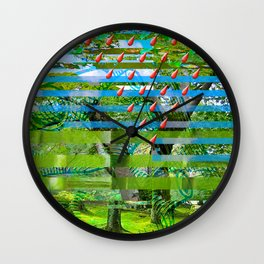 Landscape of My Heart (segment 2) Wall Clock