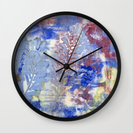 Feather Textures Wall Clock