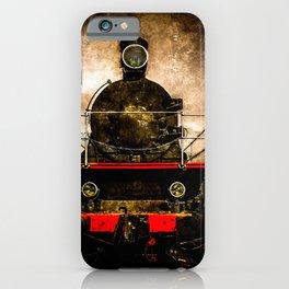 Vintage Steam Engine Locomotive - Old Timer iPhone Case