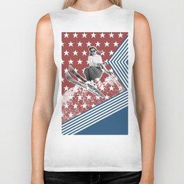 Ski like a Girl for USA Biker Tank