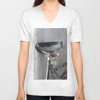 copenhagen V-neck T-shirts featuring Rusty bike Copenhagen by RMK Creative