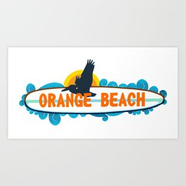 Orange Beach - Alabama. Art Print