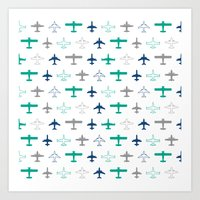 planes Art Prints featuring Planes by chantae