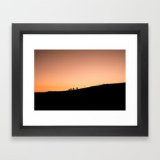 Riders at sunset Framed Art Print