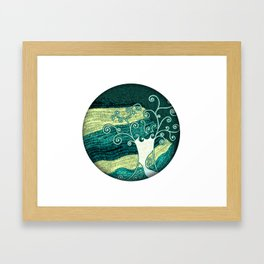 Dreamy night tree Framed Art Print