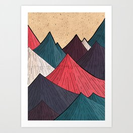 Vintage Mounts Art Print