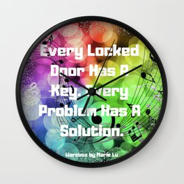 Warcross Quote Wall Clock